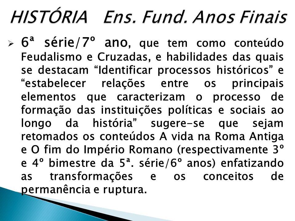 HISTÓRIA Ens. Fund. Anos Finais