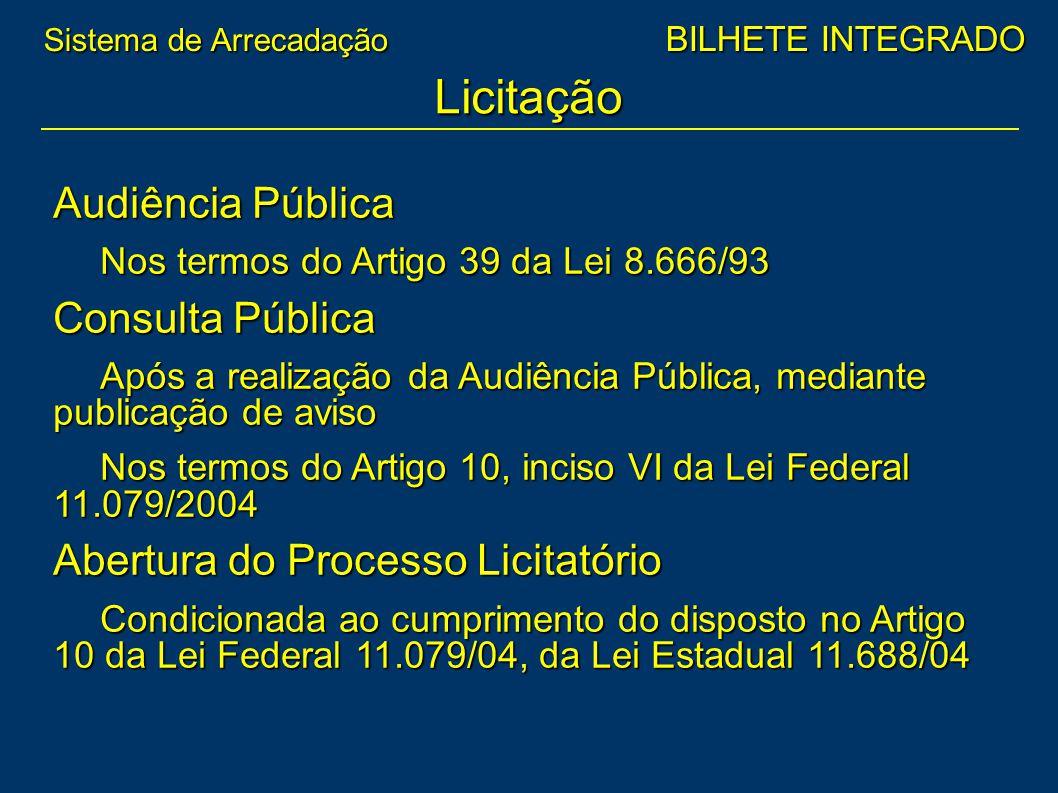 Licitação Audiência Pública Consulta Pública