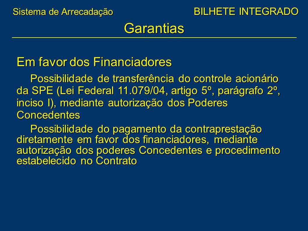 Garantias Em favor dos Financiadores