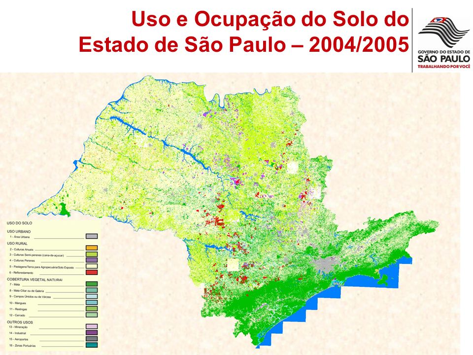 Uso e Ocupação do Solo do Estado de São Paulo – 2004/2005
