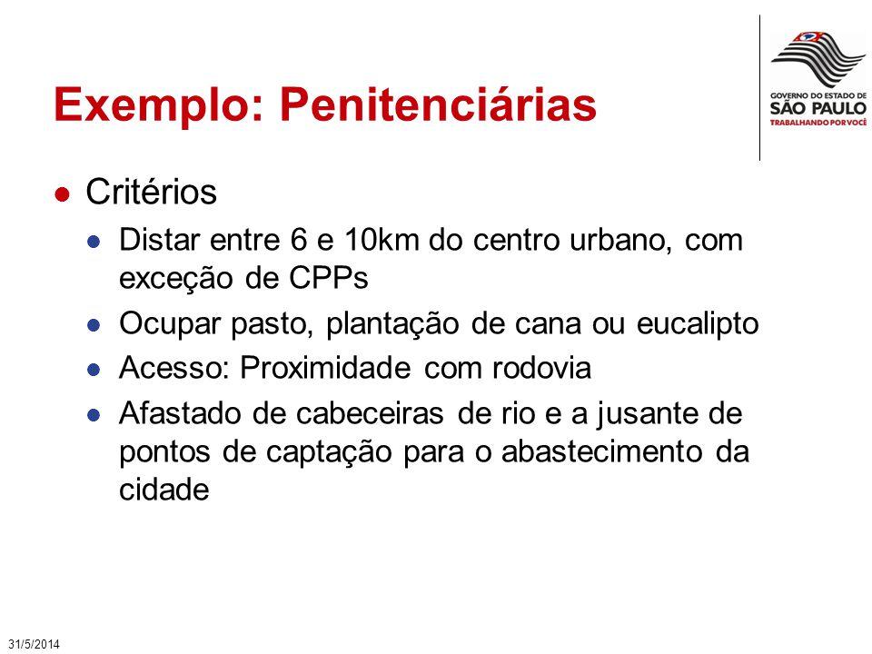 Exemplo: Penitenciárias