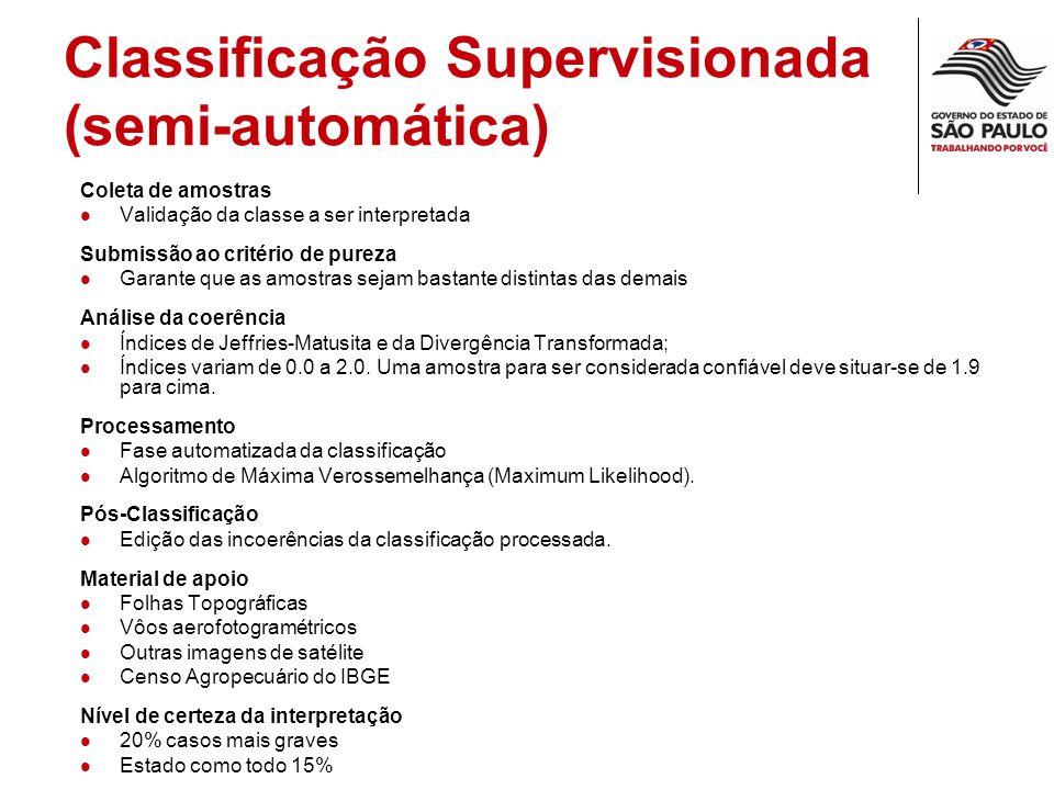 Classificação Supervisionada (semi-automática)