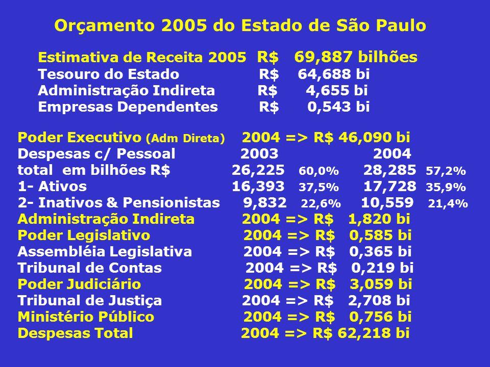 Orçamento 2005 do Estado de São Paulo