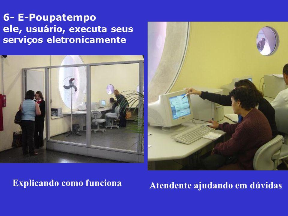 6- E-Poupatempo ele, usuário, executa seus serviços eletronicamente