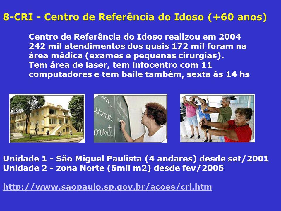 8-CRI - Centro de Referência do Idoso (+60 anos)