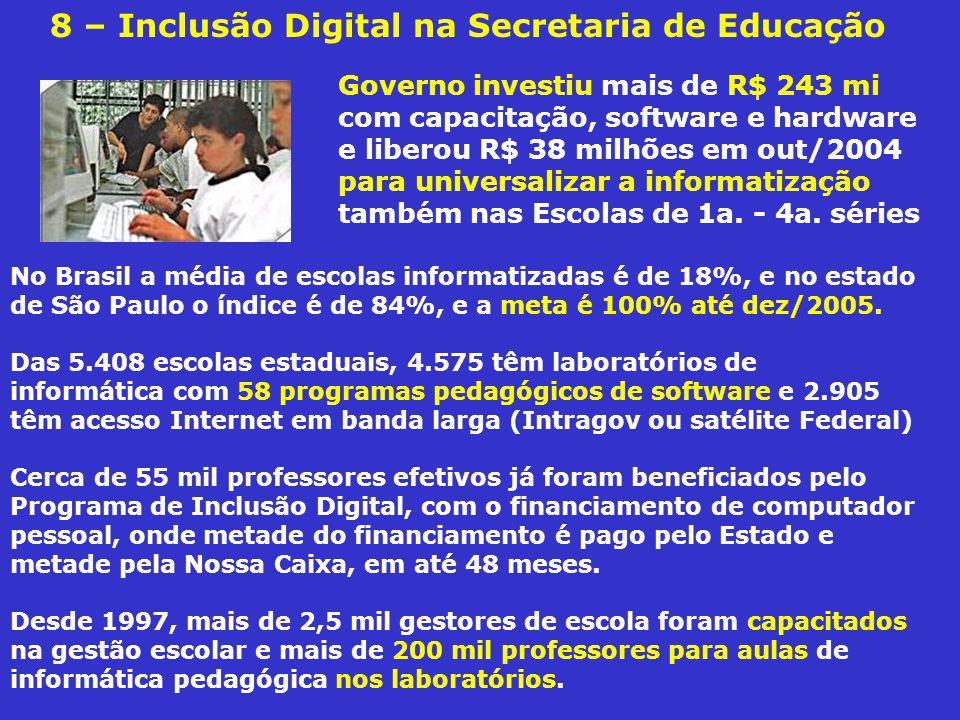 8 – Inclusão Digital na Secretaria de Educação