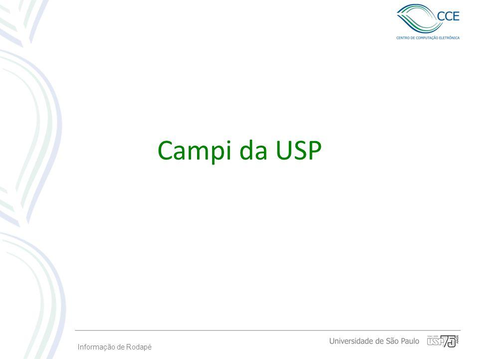Campi da USP Informação de Rodapé