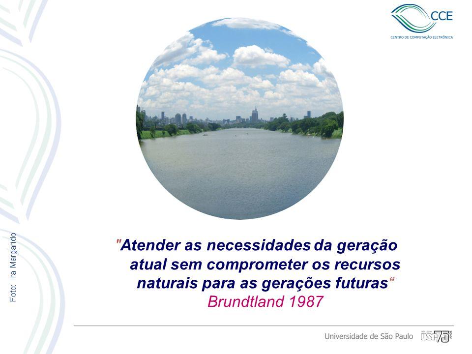 Atender as necessidades da geração atual sem comprometer os recursos naturais para as gerações futuras Brundtland 1987