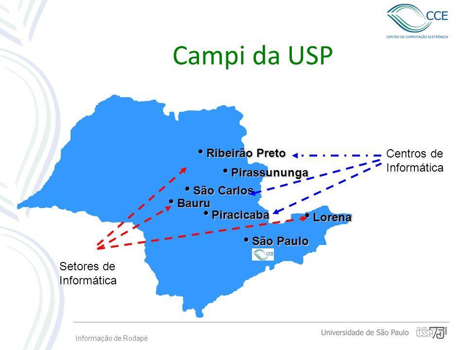 Campi da USP Ribeirão Preto Centros de Informática Pirassununga