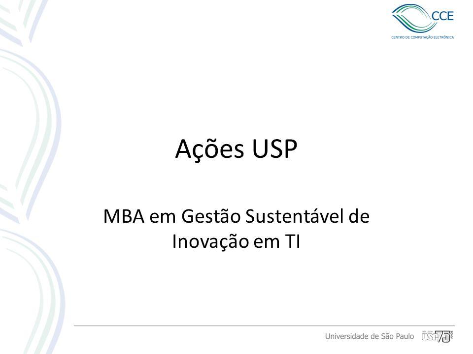 MBA em Gestão Sustentável de Inovação em TI