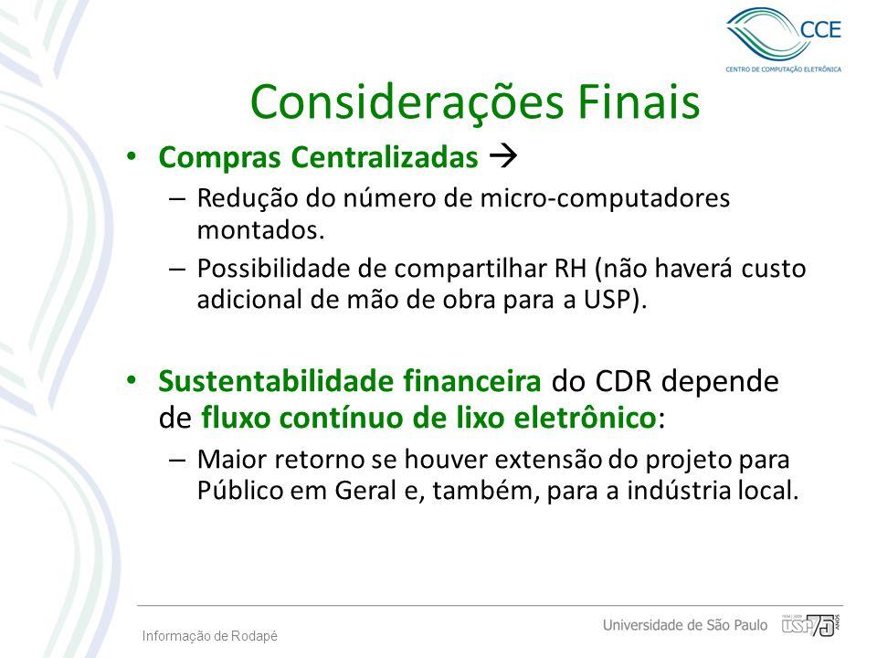 Considerações Finais Compras Centralizadas 