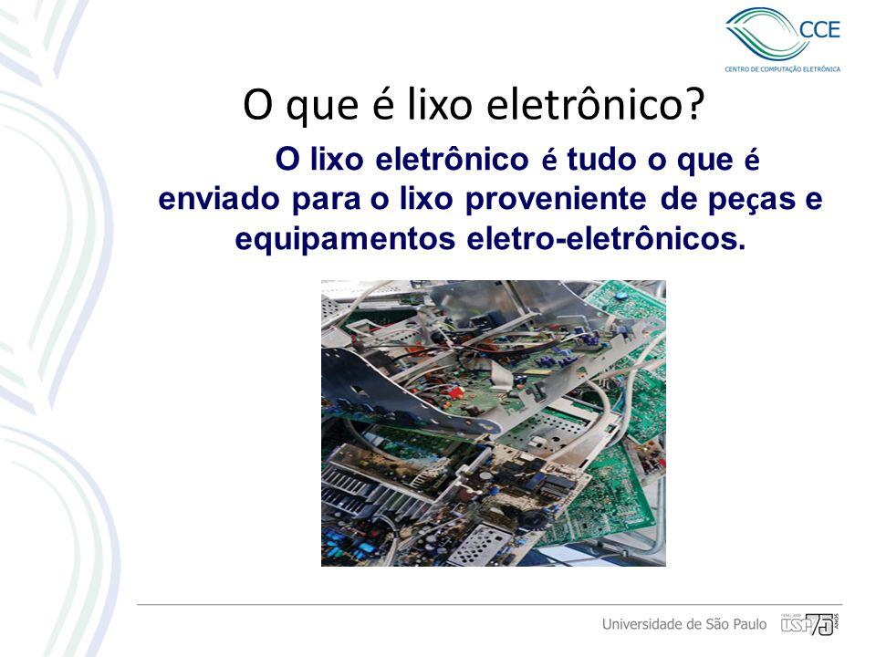 O que é lixo eletrônico.