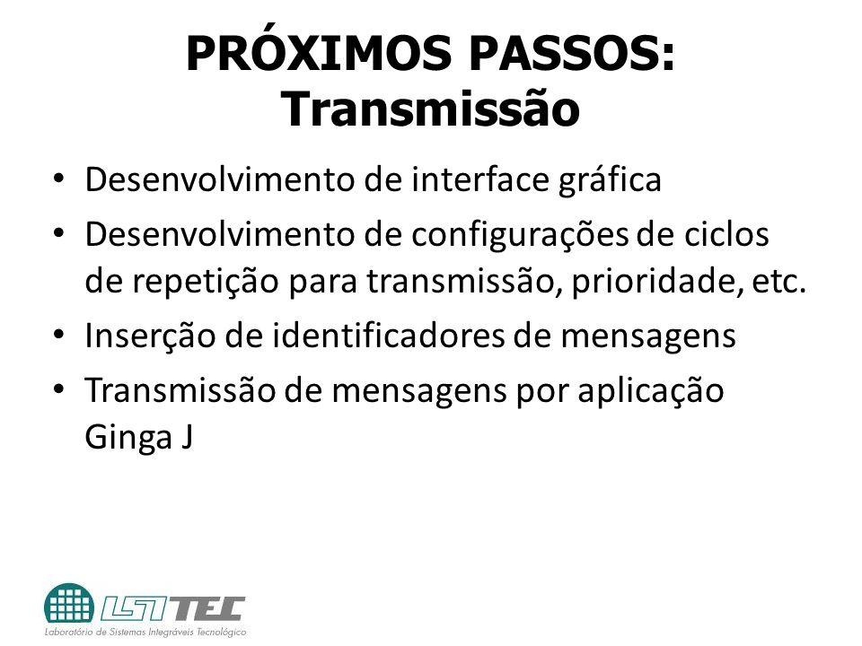 PRÓXIMOS PASSOS: Transmissão