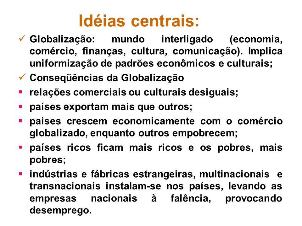 Idéias centrais: