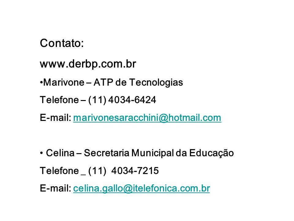Contato: www.derbp.com.br Marivone – ATP de Tecnologias