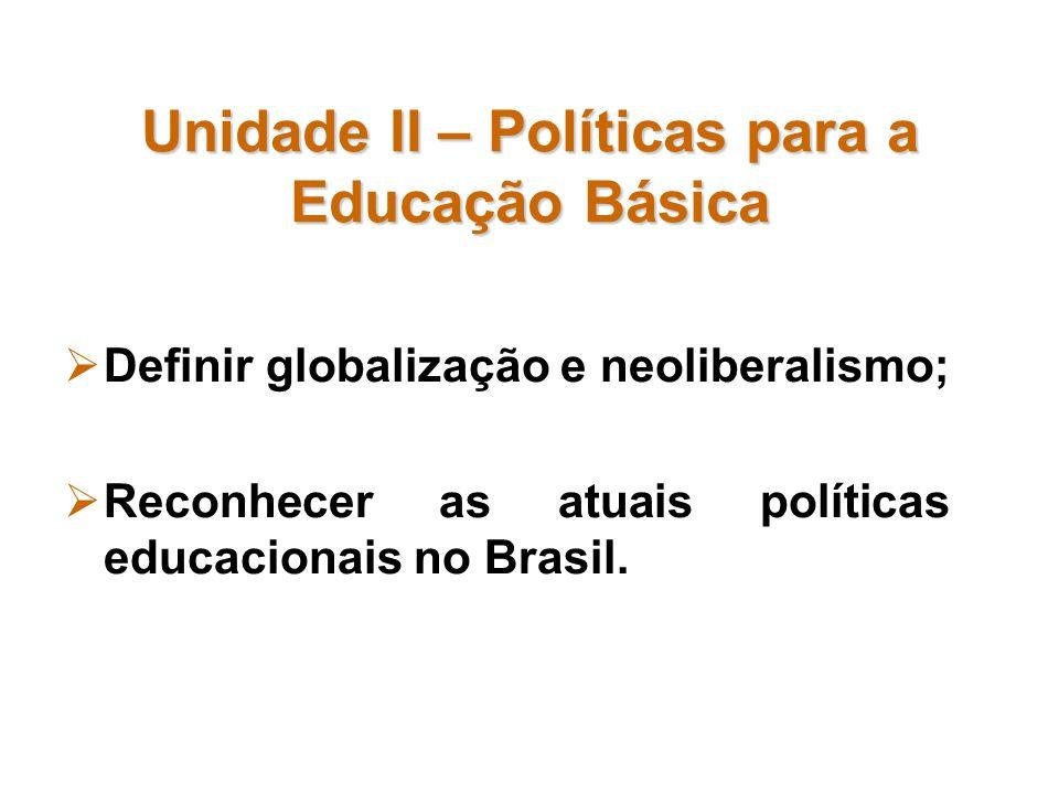 Unidade II – Políticas para a Educação Básica