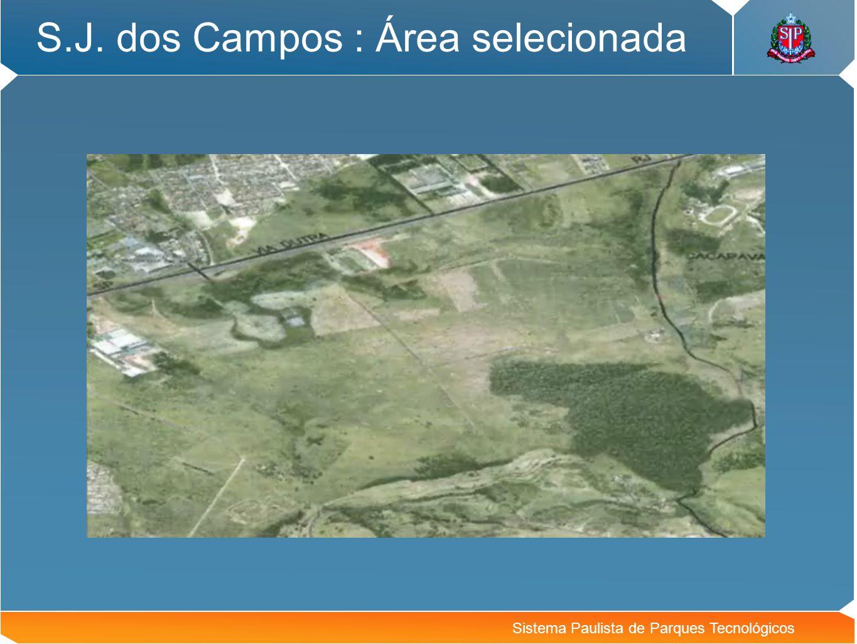 S.J. dos Campos : Área selecionada