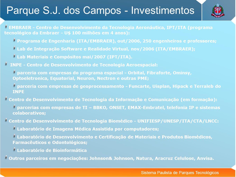 Parque S.J. dos Campos - Investimentos