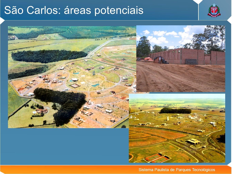 São Carlos: áreas potenciais
