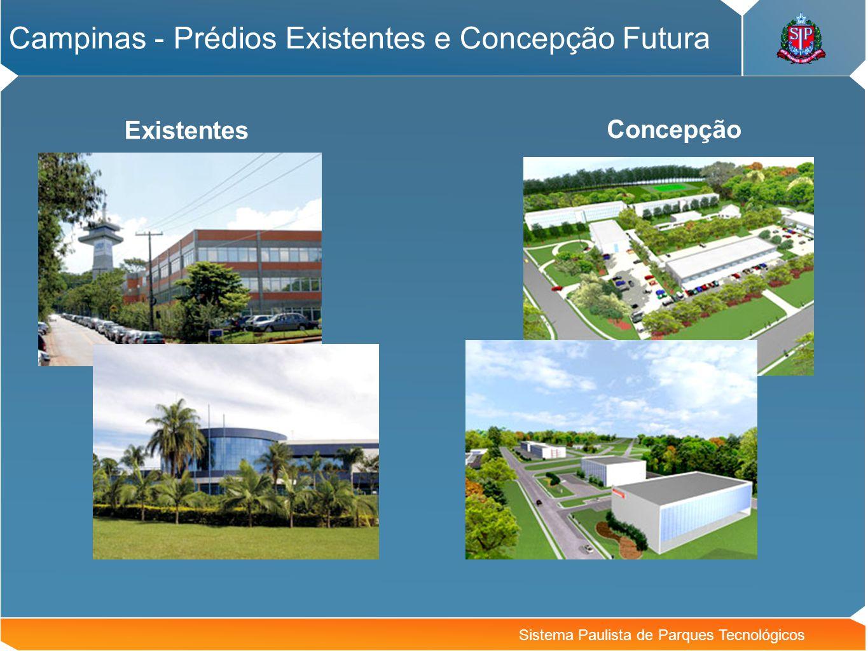 Campinas - Prédios Existentes e Concepção Futura