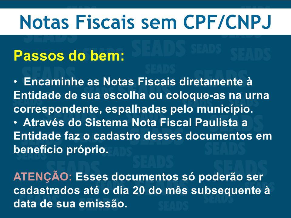 Notas Fiscais sem CPF/CNPJ