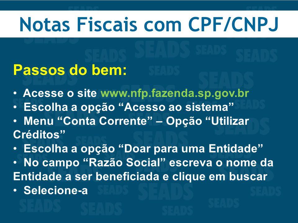 Notas Fiscais com CPF/CNPJ