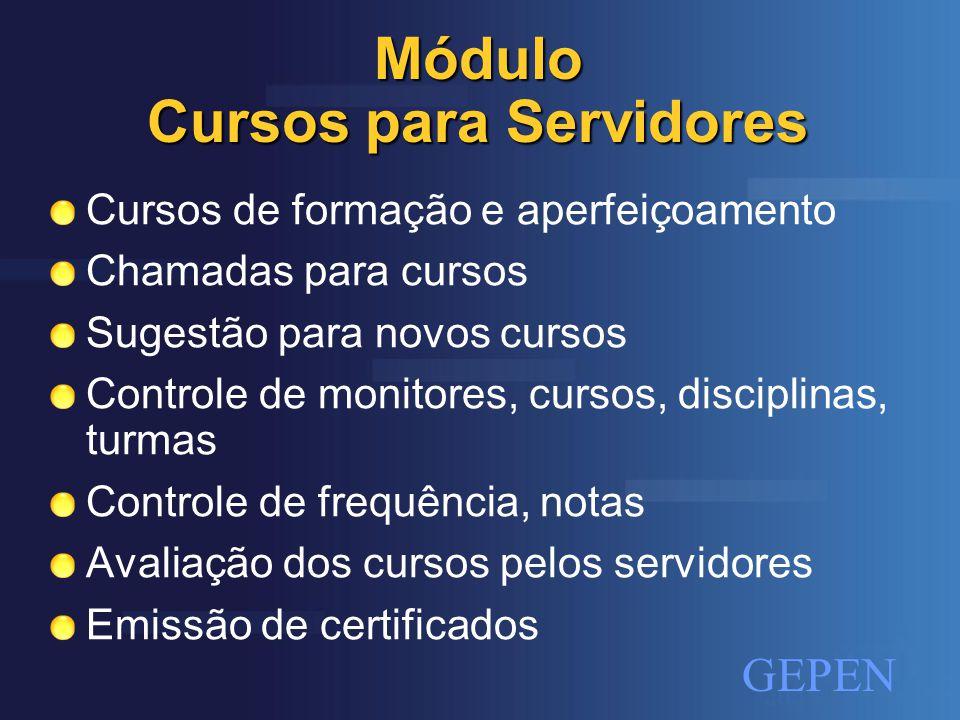 Módulo Cursos para Servidores