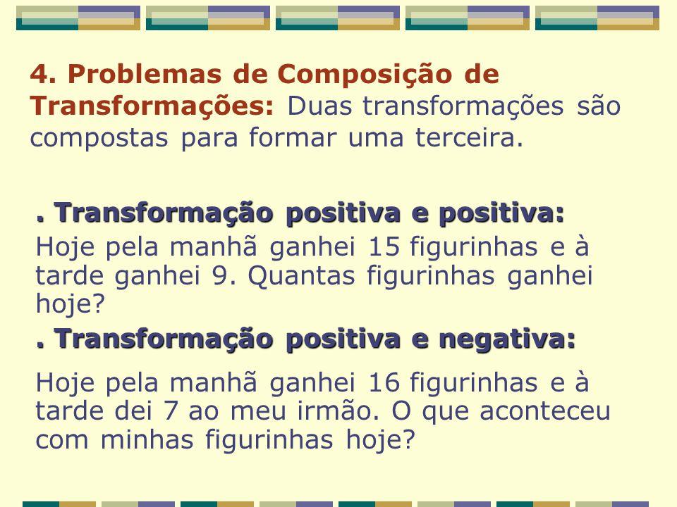 4. Problemas de Composição de Transformações: Duas transformações são compostas para formar uma terceira.