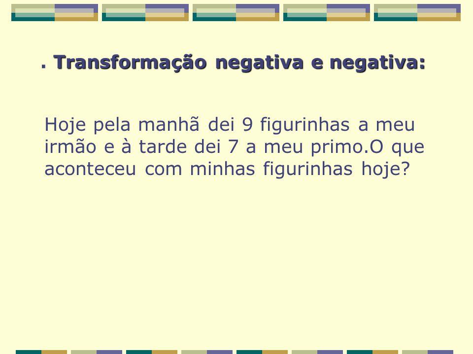 . Transformação negativa e negativa: