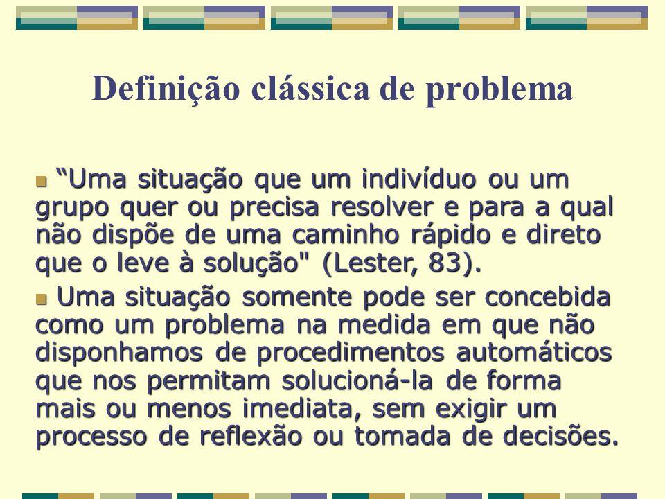 Definição clássica de problema