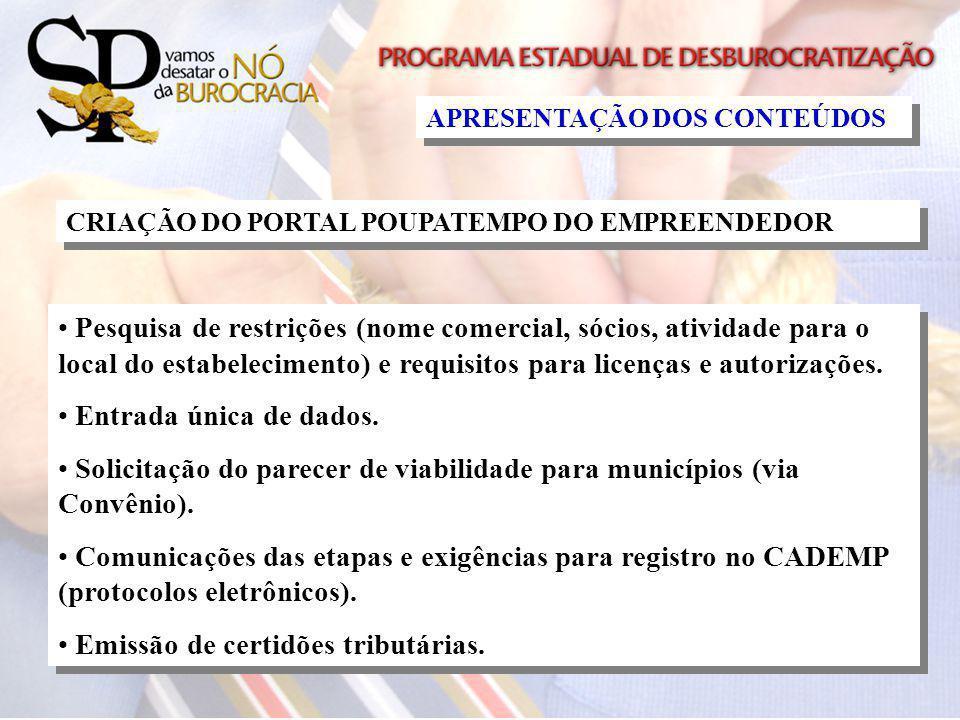 Solicitação do parecer de viabilidade para municípios (via Convênio).