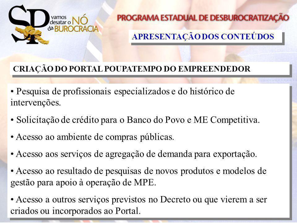 Solicitação de crédito para o Banco do Povo e ME Competitiva.
