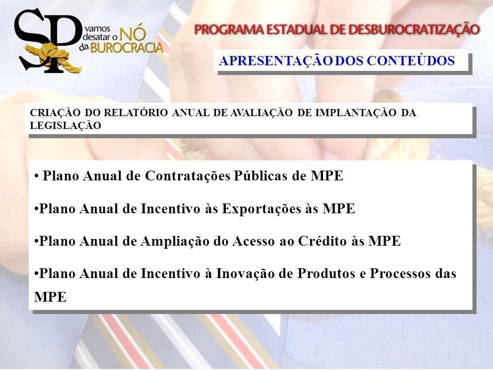 Plano Anual de Contratações Públicas de MPE
