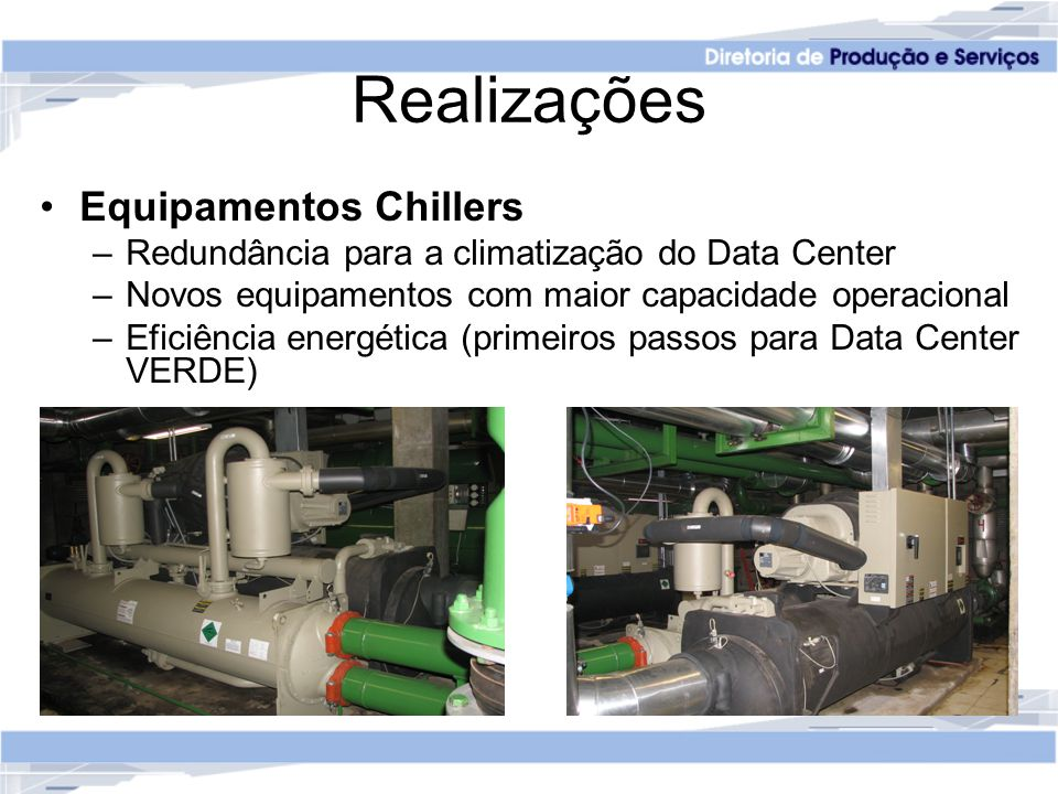 Realizações Equipamentos Chillers