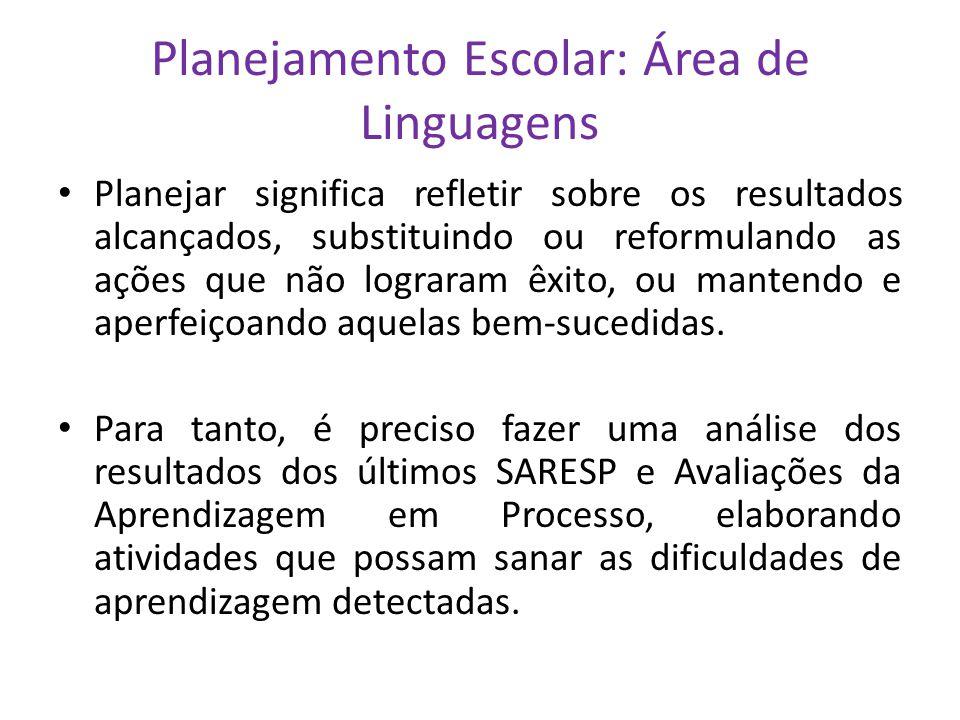 Planejamento Escolar: Área de Linguagens