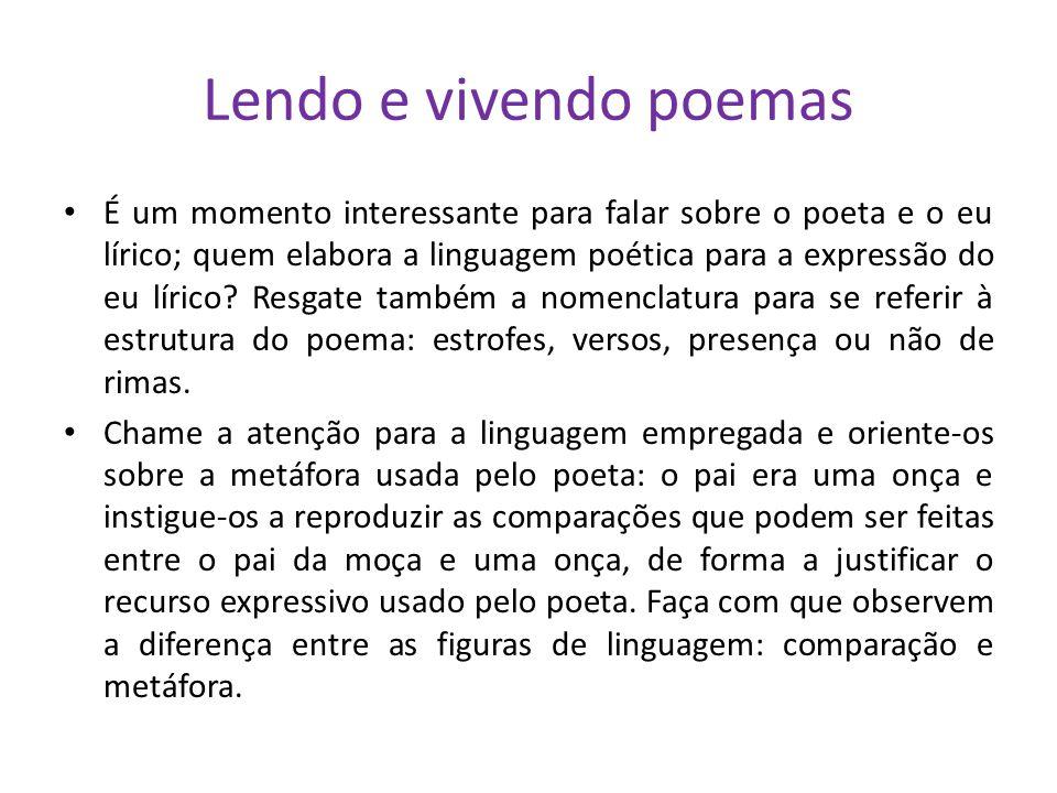 Lendo e vivendo poemas