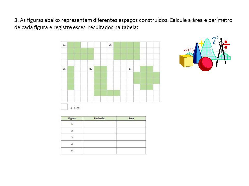 3. As figuras abaixo representam diferentes espaços construídos