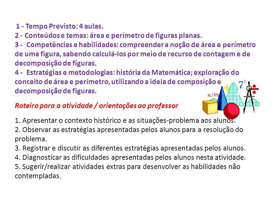 1 - Tempo Previsto: 4 aulas