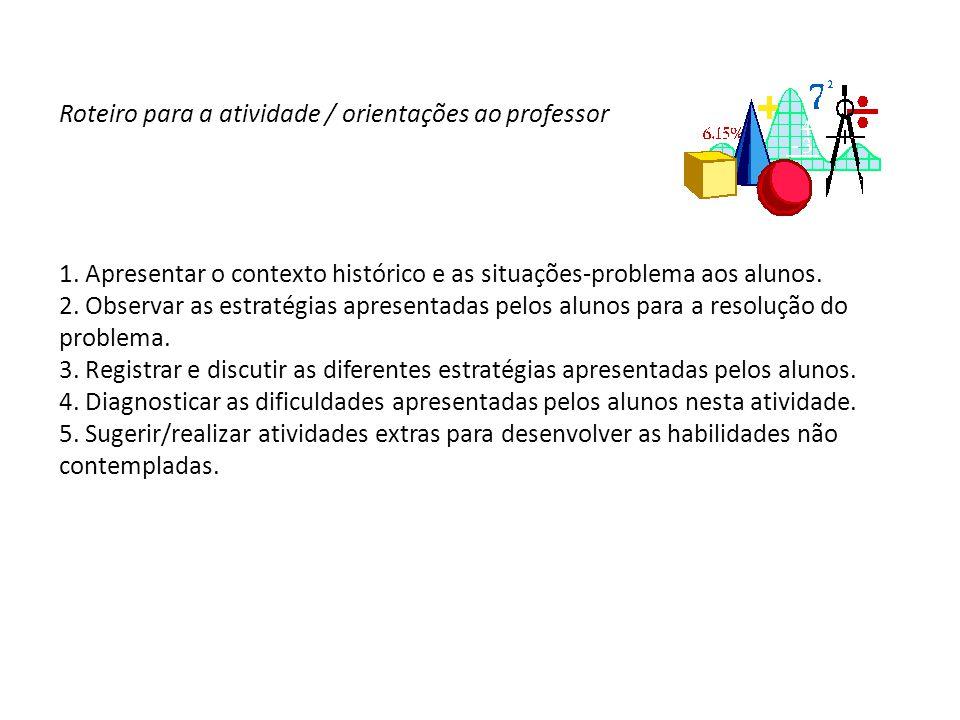 Roteiro para a atividade / orientações ao professor 1