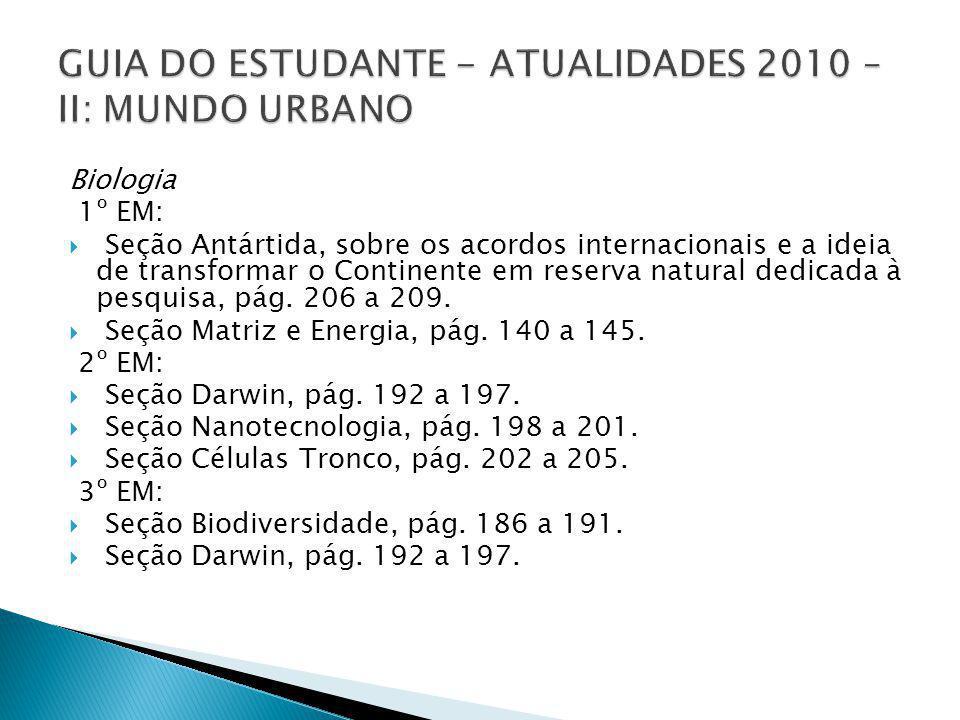 GUIA DO ESTUDANTE - ATUALIDADES 2010 – II: MUNDO URBANO
