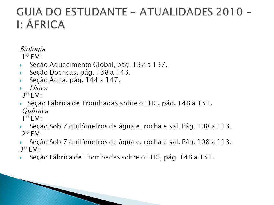 GUIA DO ESTUDANTE - ATUALIDADES 2010 – I: ÁFRICA