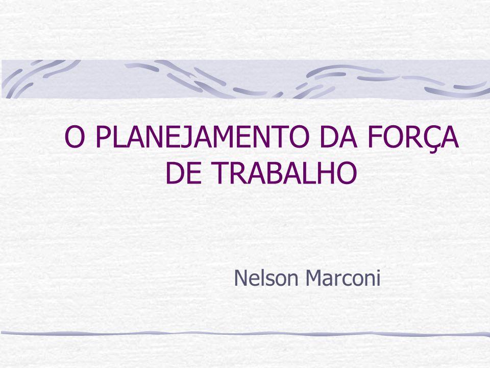 O PLANEJAMENTO DA FORÇA DE TRABALHO