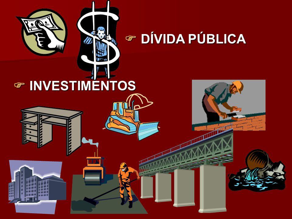 DÍVIDA PÚBLICA  INVESTIMENTOS