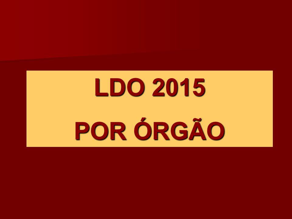 LDO 2015 POR ÓRGÃO