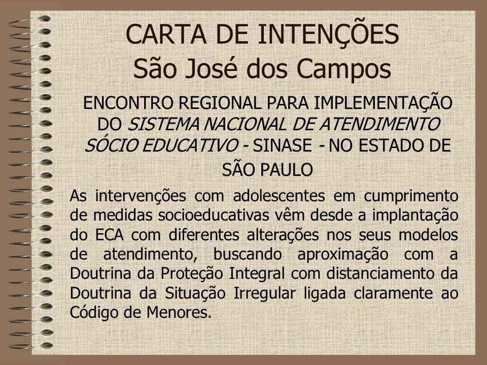 CARTA DE INTENÇÕES São José dos Campos