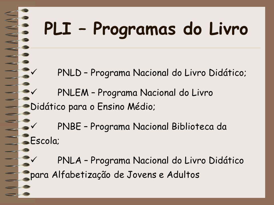 PLI – Programas do Livro