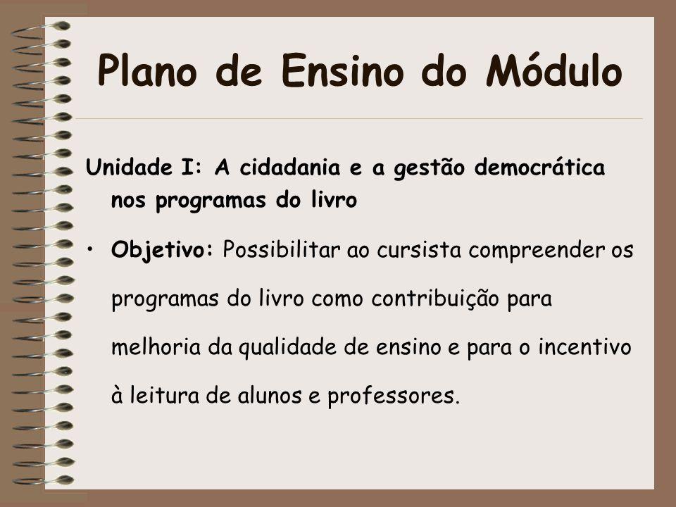Plano de Ensino do Módulo