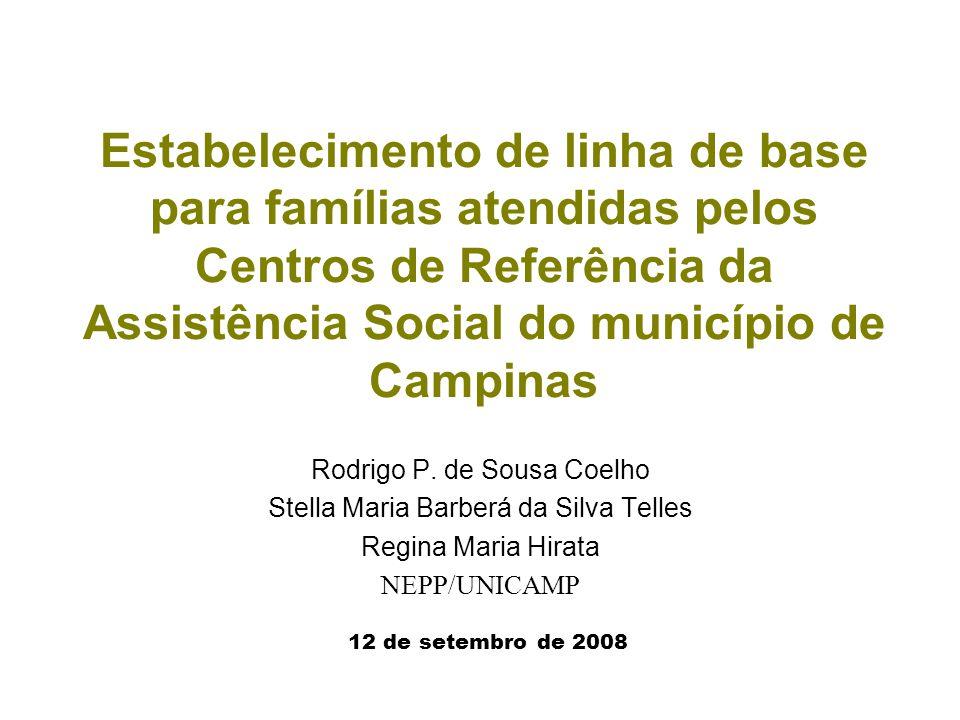 Estabelecimento de linha de base para famílias atendidas pelos Centros de Referência da Assistência Social do município de Campinas