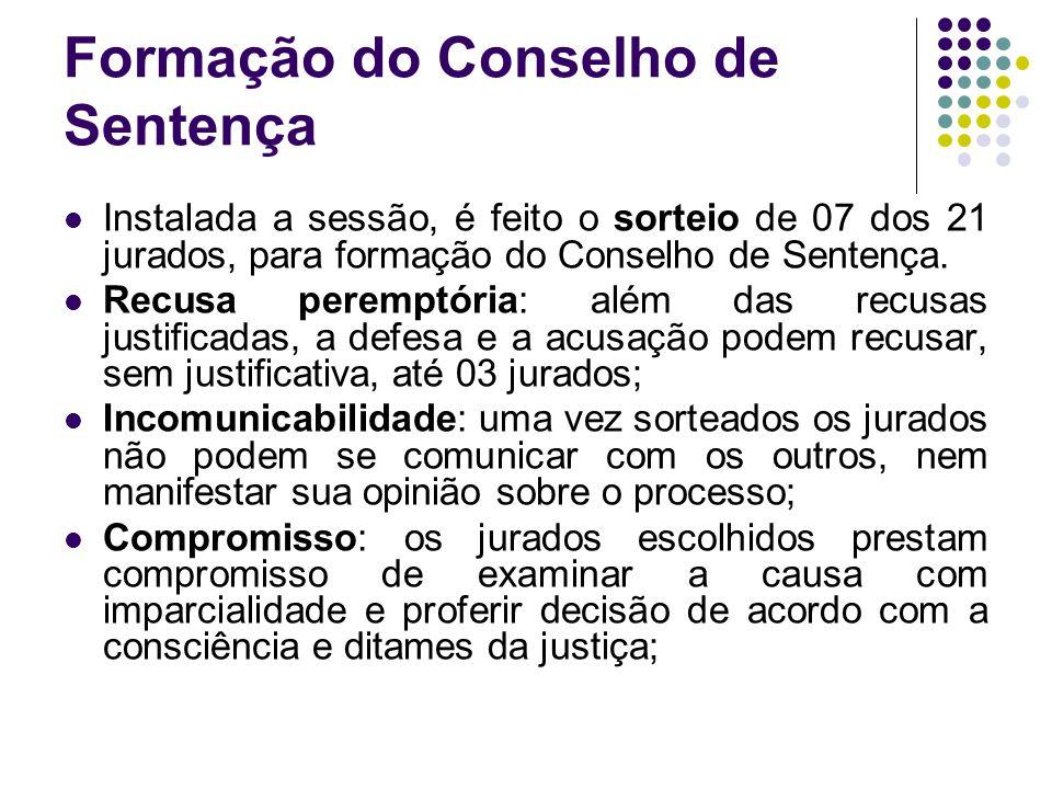 Formação do Conselho de Sentença