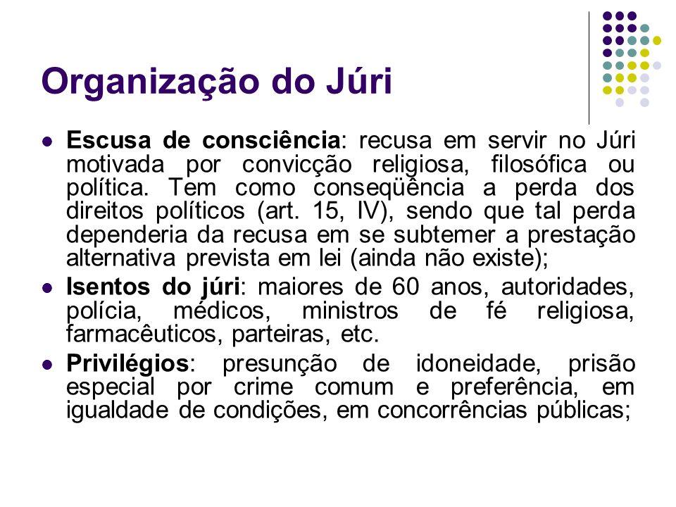 Organização do Júri